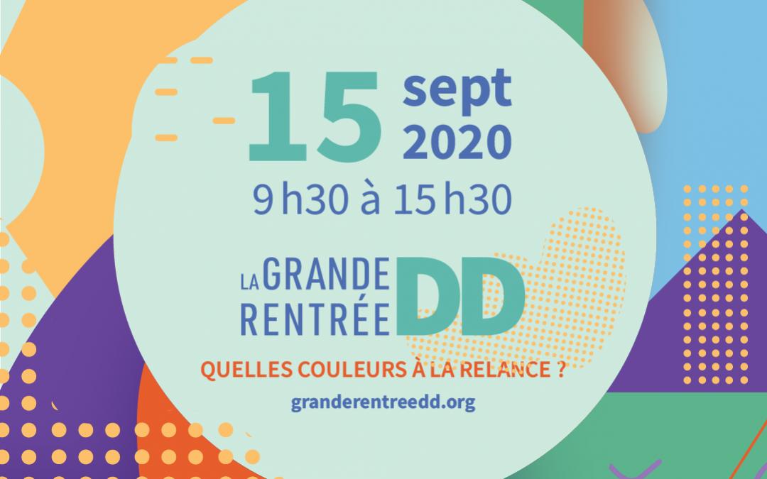 COMMUNIQUÉ DE PRESSE // La Grande rentrée DD : un événement virtuel le 15 septembre prochain