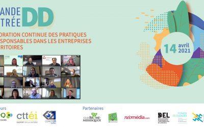COMMUNIQUÉ DE PRESSE // Des organisations de toutes tailles mobilisées afin d'améliorer leurs pratiques écoresponsables lors de l'événement en ligne